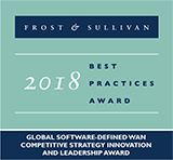 Frost & Sullivan: 2018 Best Practices Award - Global Software-Defined WAN SD-WAN Competitive Strategy Innovation and Leadership Award