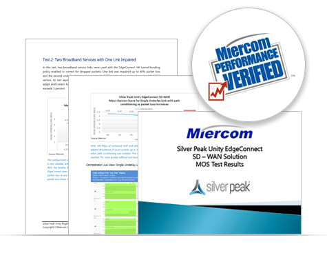 Silver Peak Unity EdgeConnect SD-WAN Solution - Miercome Report