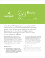 Unity Boost WAN Optimization datasheet