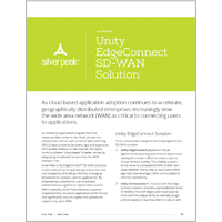 Unity EdgeConnect Solution Data Sheet