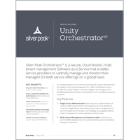 Unity Orchestrator SP Data Sheet
