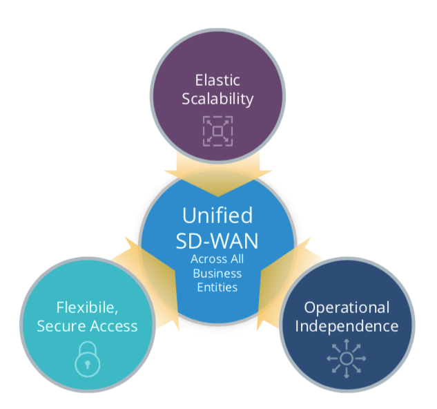 Unified SD-WAN Across All Business Entities