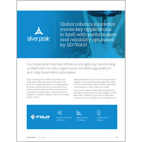 Global Robotics Innovator Moves Key Applications to IaaS with Performance and Reliability Optimized by SD-WAN