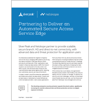 Partnering to Deliver an Automated Secure Access Service Edge